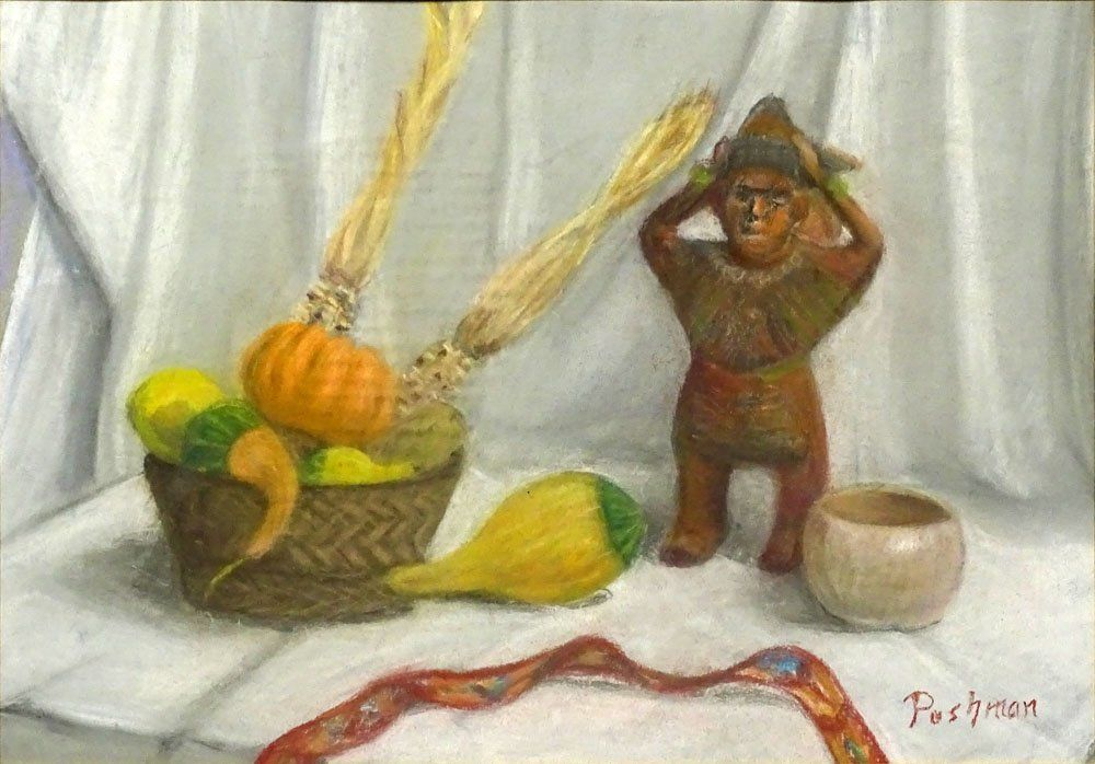 Hovsep Pushman American (1877-1966) Pastel on Paper,