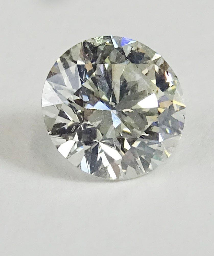 EGL certified 2.17 carat round brilliant cut diamond, H