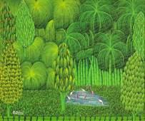 Henri Bresil, Haitian (1952 - 1999) Acrylic on Canvas