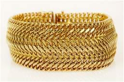 Lady's vintage Italian 14 karat yellow gold mesh link