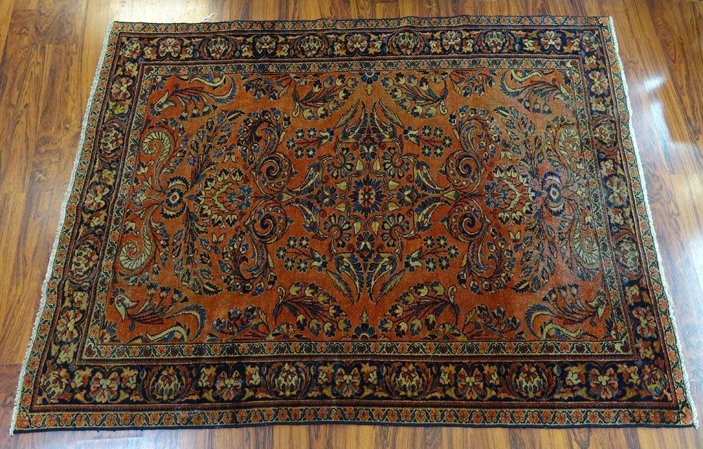 Antique Persian Mahal Rug. Descriptive Label or