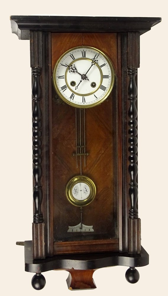 Carved wood regulator wall clock painted antique carved wood regulator wall clock painted amipublicfo Image collections