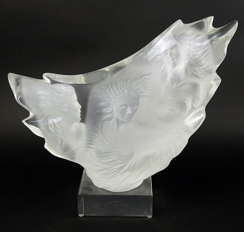 "Michael Wilkinson (b.1949) Lucite sculpture ""Three - 3"