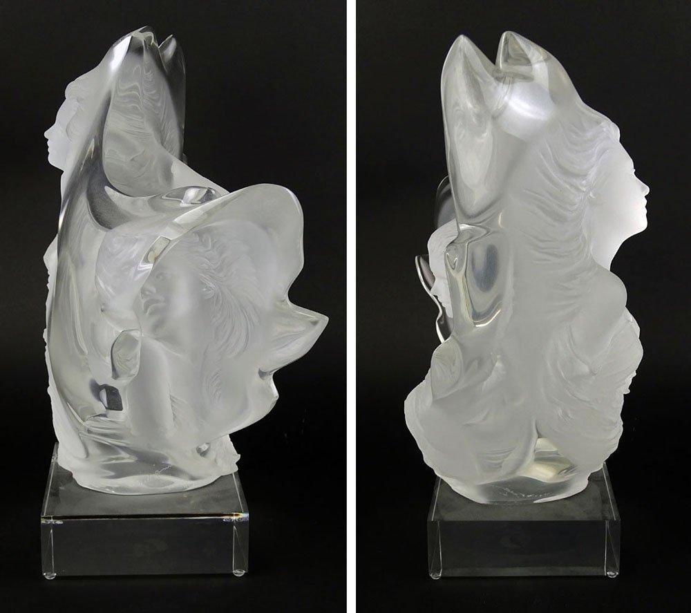 "Michael Wilkinson (b.1949) Lucite sculpture ""Three - 5"