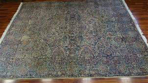 Semi Antique Palace Size Lavar Kerman Persian Carpet.