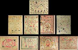 Collection of Nine (9) mid 20th Century Indian