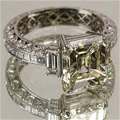 Ladys Very Fine Approx 513 carat Emerald Cut Diamond