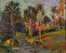 Robert C. Gruppe, American Oil on Canvas, Tropical