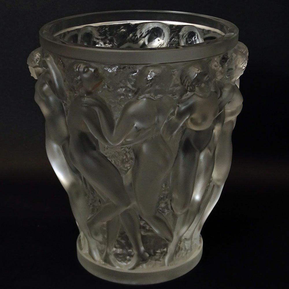 Vintage R. Lalique Frosted Crystal Bacchantes Vase. - 2
