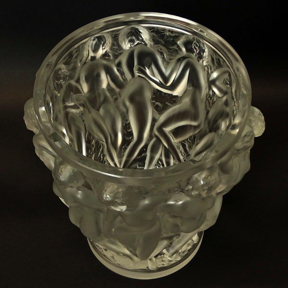 Vintage R. Lalique Frosted Crystal Bacchantes Vase. - 5