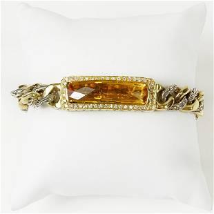 John Hardy Design 18 Karat Yellow Gold, Sterling