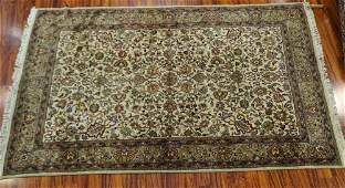 Semi Antique Persian Wool Rug Light brown and beige
