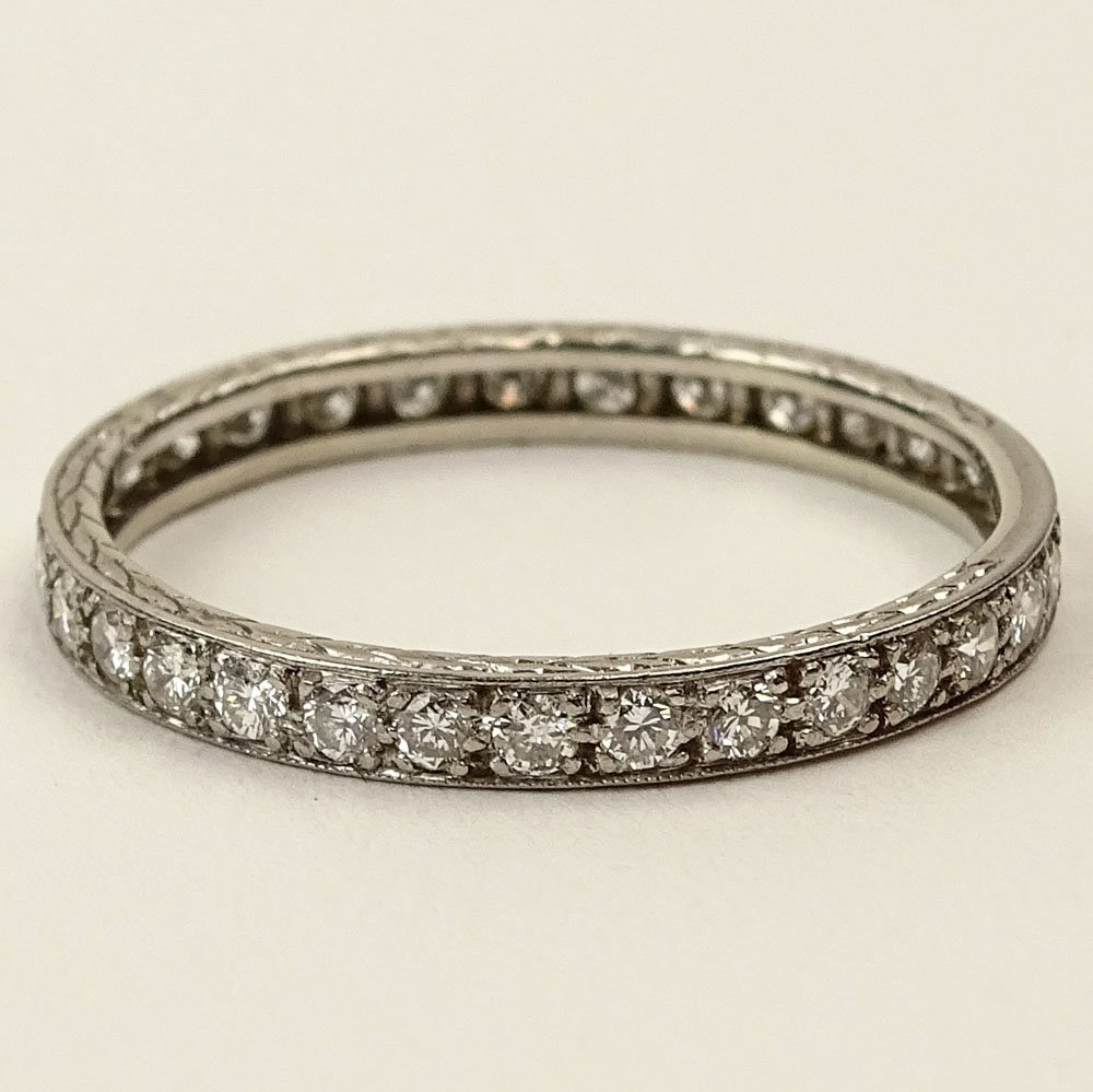 Lady's Vintage Approx. 1.0 Carat Round Cut Diamond and