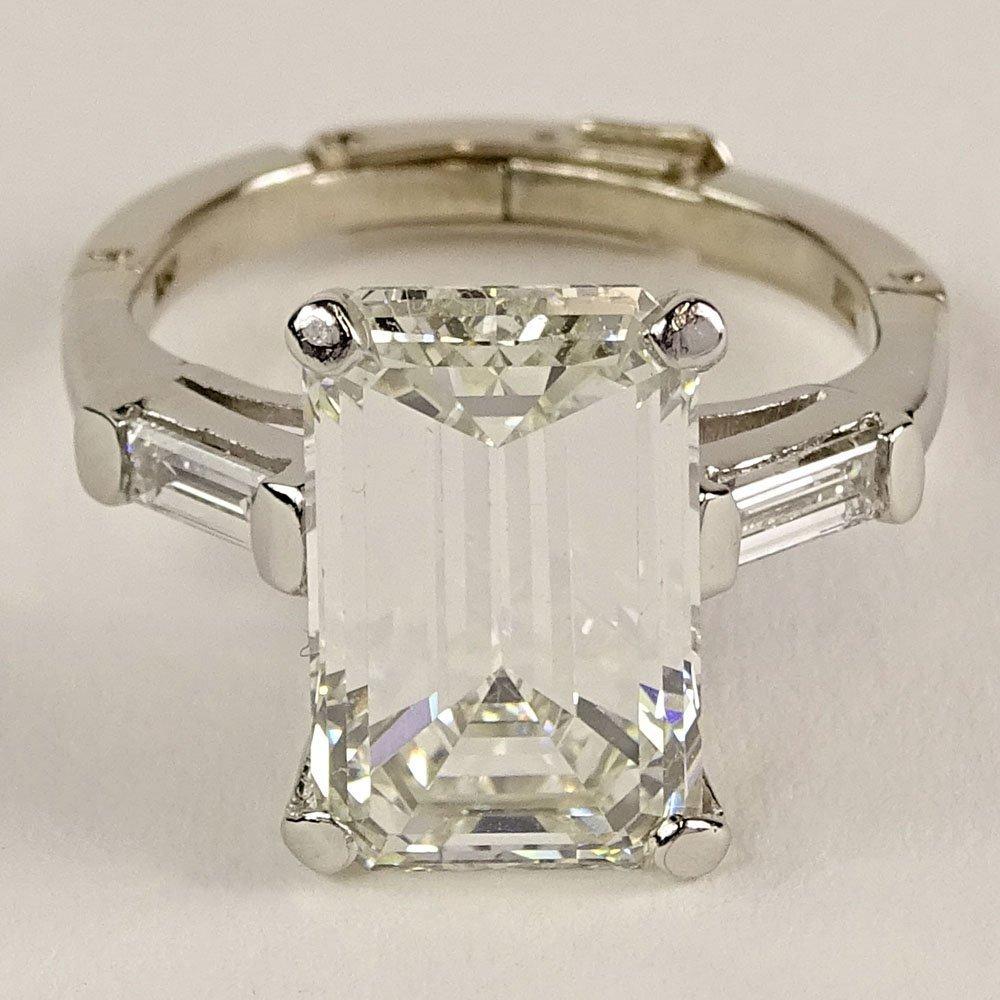 GIA Certified 6.85 Carat Emerald Cut Diamond and