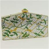 """Judith Leiber Evening Clutch with """"Jeweled Clasp"""" and"""
