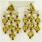 Lady's Large Pair of Vintage Approx. 94.00 Carat