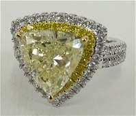 AIG Certified 403 Carat Very Light Yellow Diamond 18