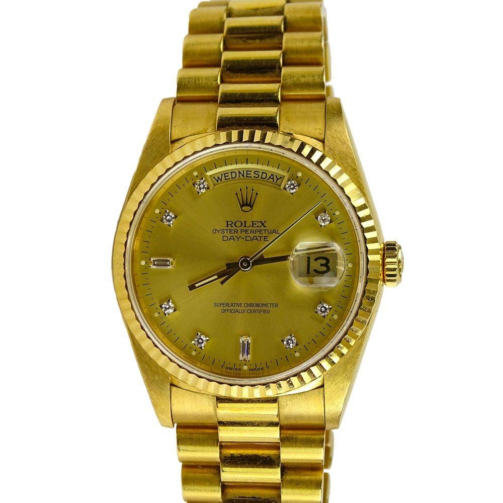 Men's Vintage Rolex 18 Karat Yellow Gold Oyster
