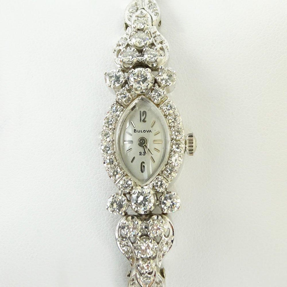 Lady's Vintage Bulova approx. 1.75 carat Round Cut Diam