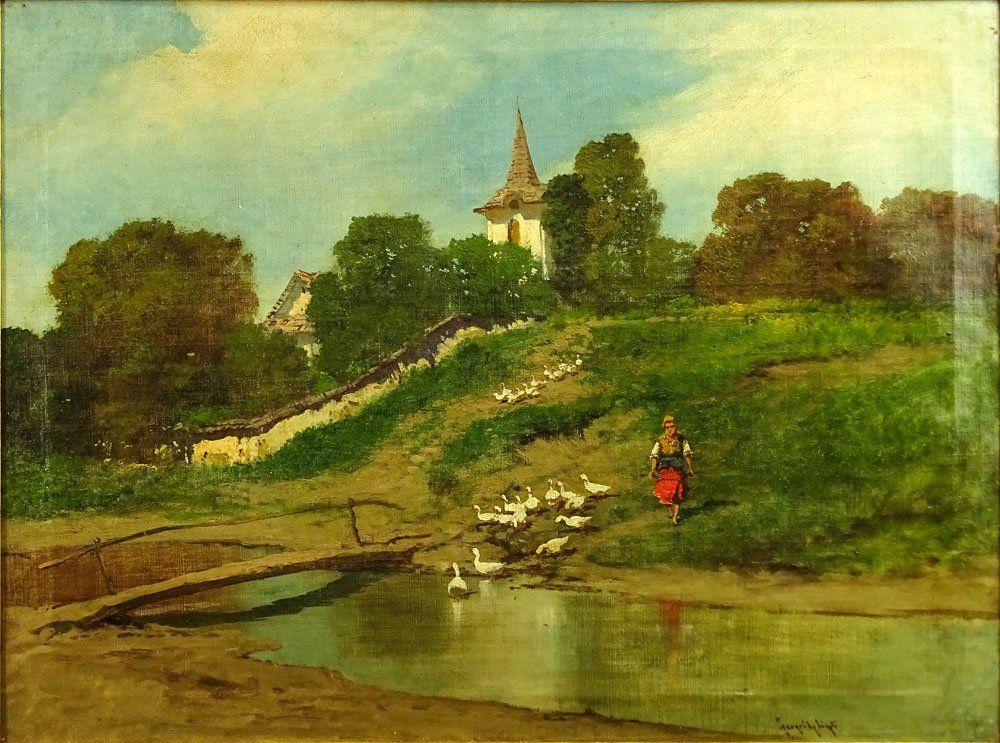 Laszlo Neogrady, Hungarian (1896-1962) Oil on canvas