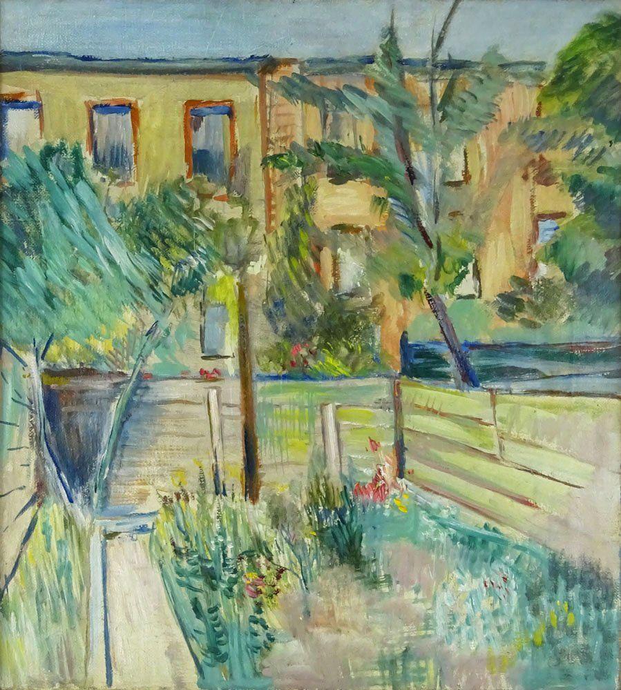 Hans Purrmann (GERMAN, 1880-1966) Oil on Canvas Dia