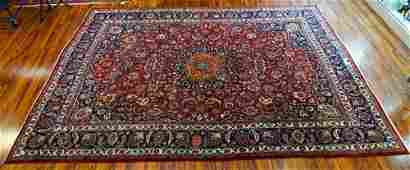 Semi-Antique Large Persian Rug. Unsigned. Wear, low