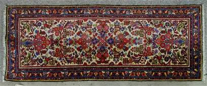 Vintage Colorful Persian Carpet Runner. Unsigned. Good