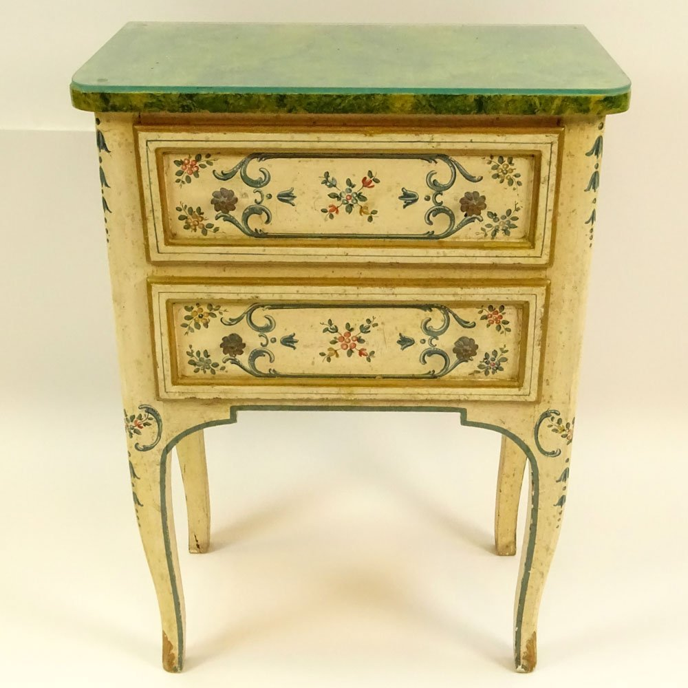 Mid 20th Century Probably Italian Painted and Parcel