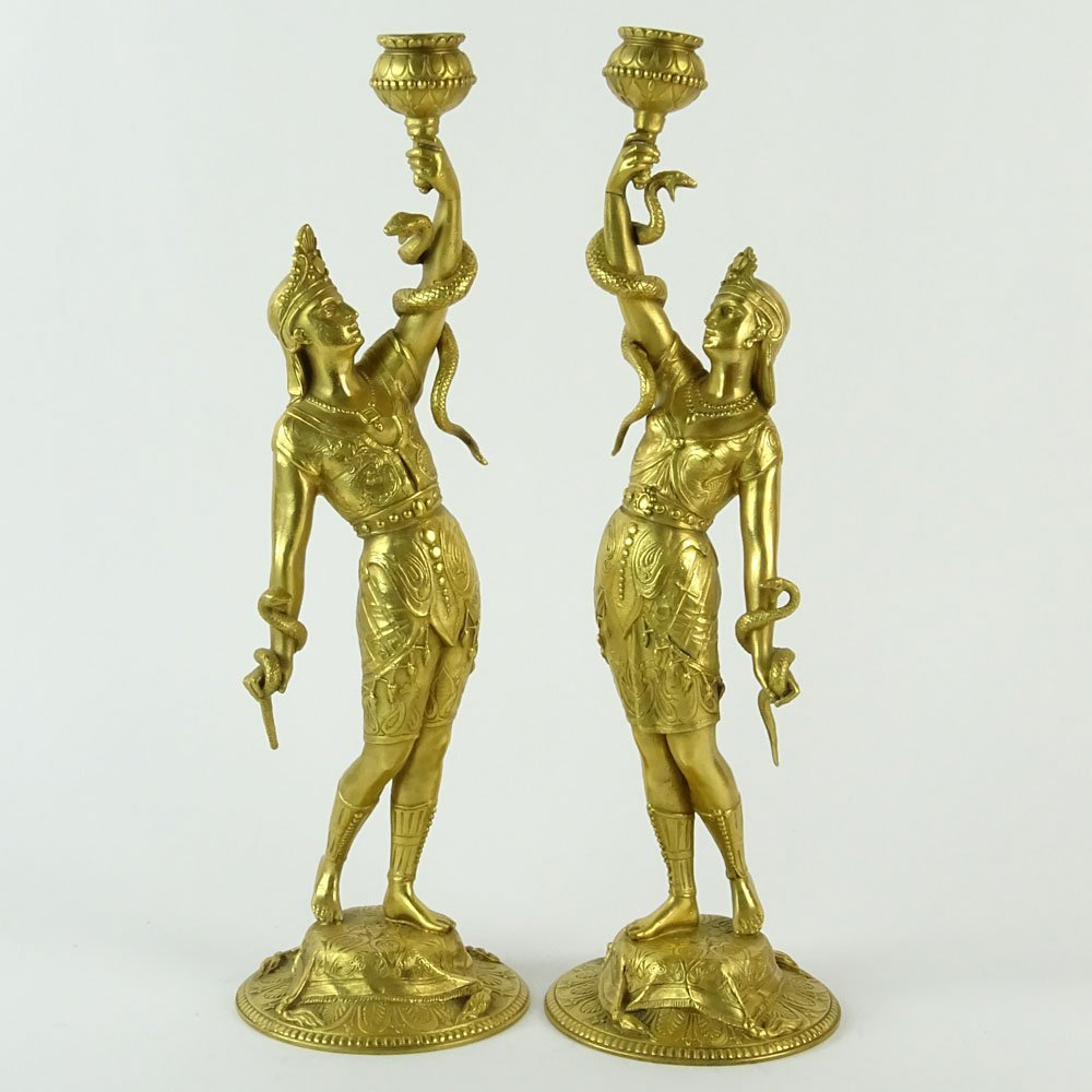 Pair of 19/20th Century French Egyptian Revival Gilt