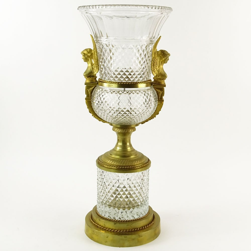 Large Early 20th Century French Possibly Baccarat Gilt