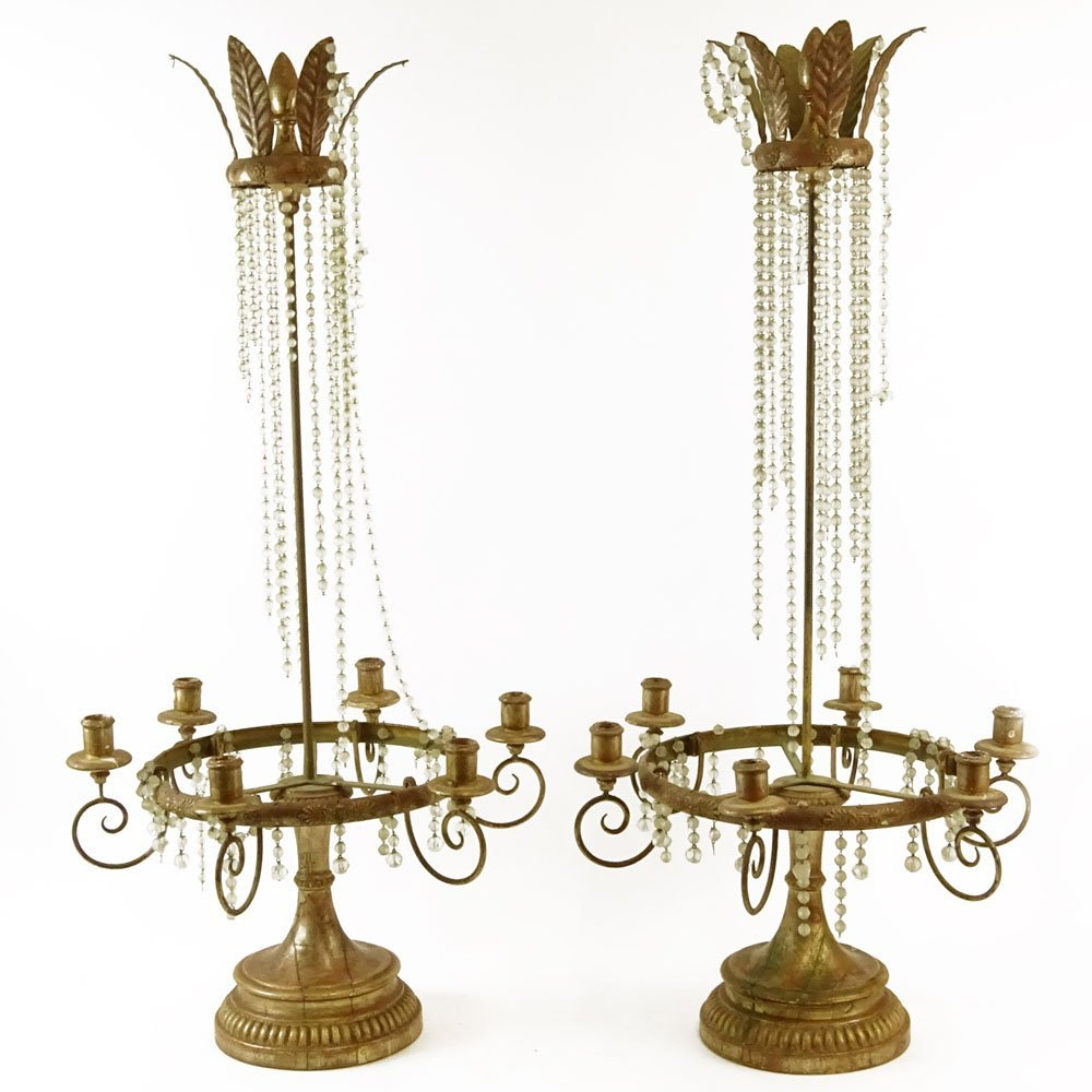 Pair of Early 20th Century Louis XVl Style Carved Gilt