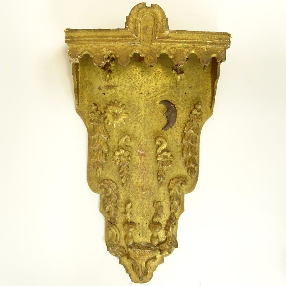 Antique Florentine Parcel Gilt Wood Decorative Wall