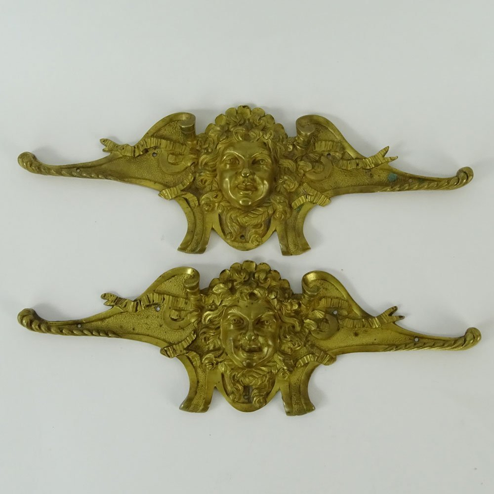 Pair of 19th Century French Gilt Bronze Furniture