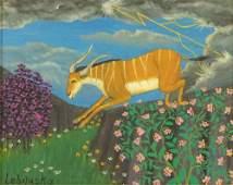 Lawrence Lebduska, American (1894-1966) Oil on canvas