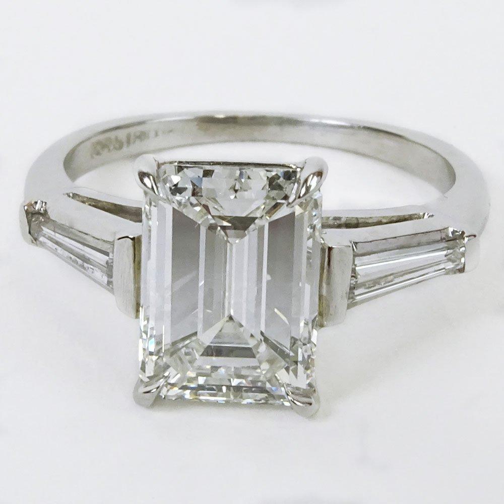 GIA Certified 2.37 Carat Emerald Cut Diamond Engagement