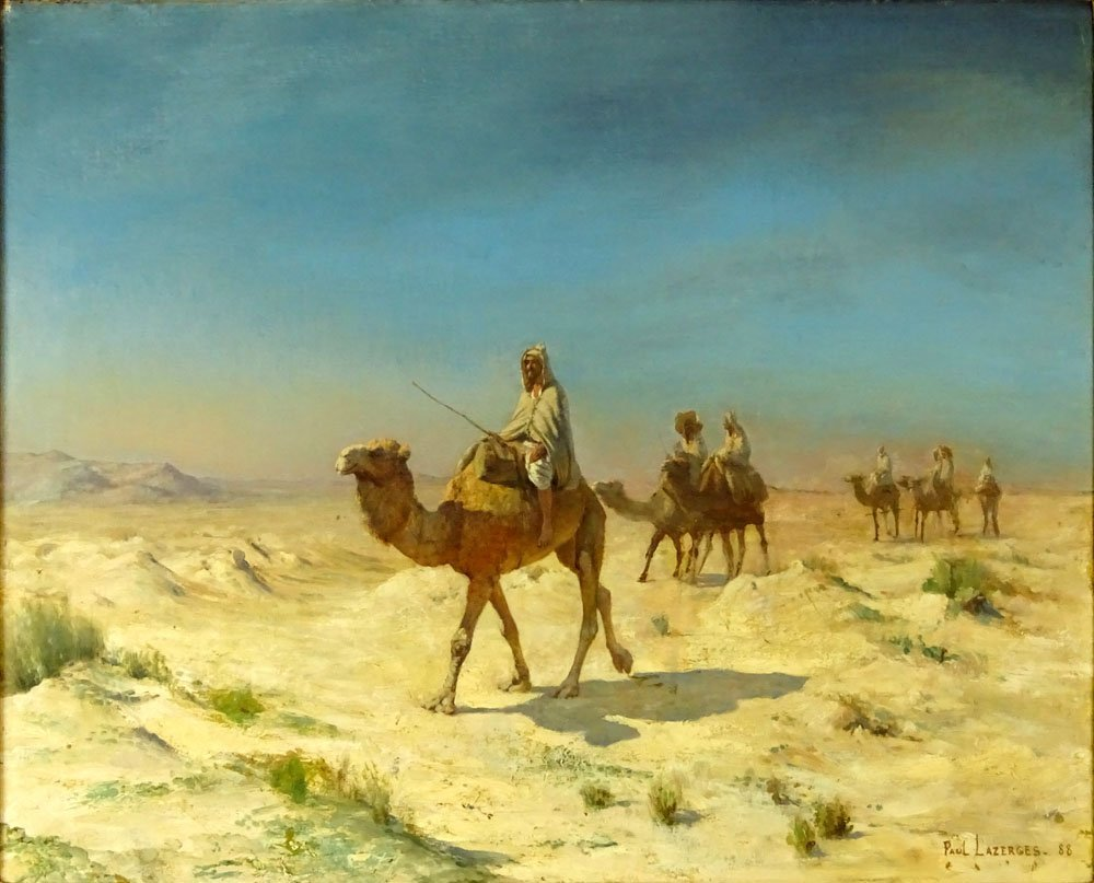 Paul Jean Baptiste Lazerges, French (1845-1902) Oil on