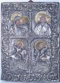 90 Mid19th Century Four 4 Part Russian Icon from Ce
