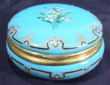 155 19C HP Jeweled Enamel Lily of the Valley Box Gi