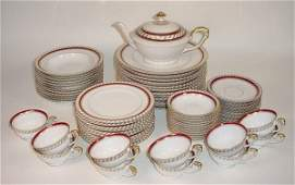 364 Seventy 70 Piece Franconia Porcelain China Parti