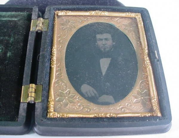 505: 1/9 Plate Unidentified Tintype in a Littlefield, P