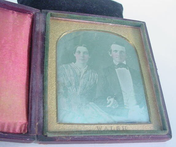 508: 1/6 Plate Daguerreotype Dag in Leatherette Case Po