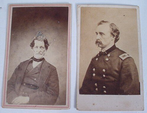 509: George Armstrong Custer CDV together with unidenti