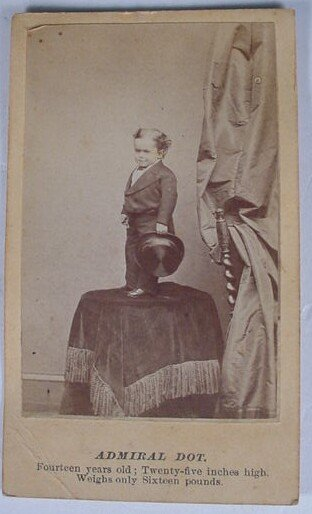 510: CDV of Admiral Dot. 14 Years Old, 25 Inches High,