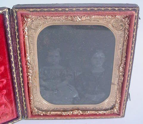 512: 1/6 Plate Ambrotype in Leatherette Case. Identifie
