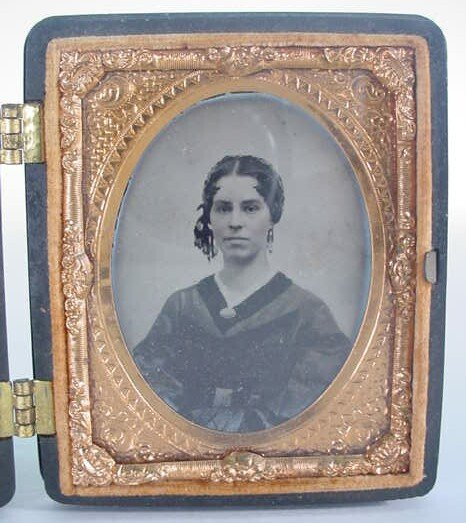 516: 1/9 Plate Unidentified Ambrotype in a Littlefield,