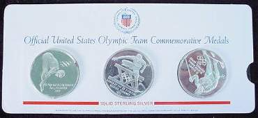 552: Set of Three (3) Franklin Mint Official United Sta