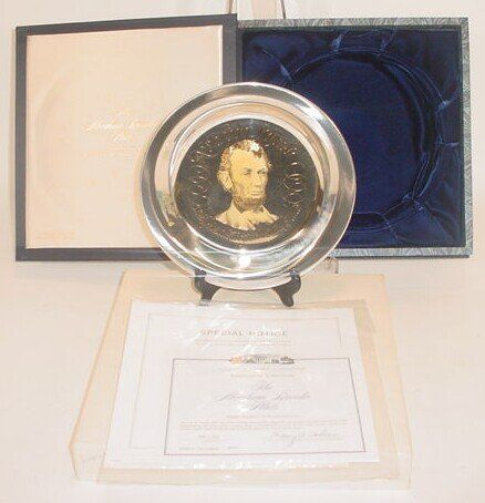 The Abraham Lincoln Plate Issued by the White Hous