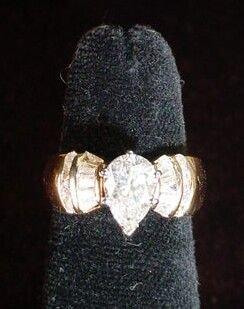 599A: 1.14 Carat Pear Shape Diamond Solitaire Engagemen