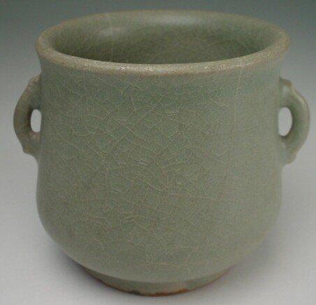 7: Longquan Celadon Double Handled Tea Cup Southern Son
