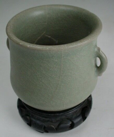 7: Longquan Celadon Double Handled Tea Cup Southern Son - 2